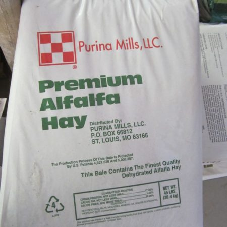 Purina Premium Alfalfa Dried Hay 45 Bag