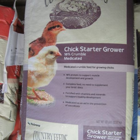 Country Feeds Chick StarterGrower 18 Crumble Med